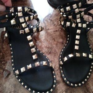 fbbebd284 ASH Gold Studded POISON sandals 5   35